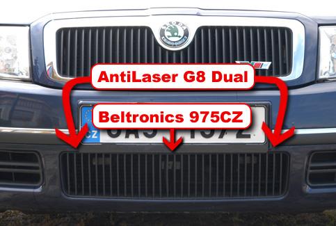 Beltronics 975CZ + Laserová rušička AntiLaser SINGLE