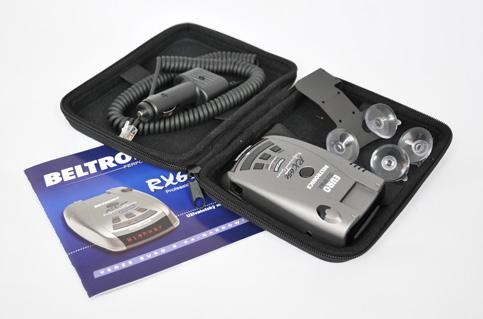 Beltronics RX65 EURO CZ - obsah balení