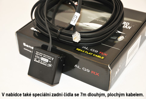 AntiLaser G9 RX - Speciální loché zadní čidlo - 7m