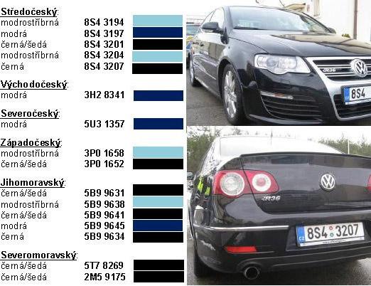 Kompletní seznam policejních passatů